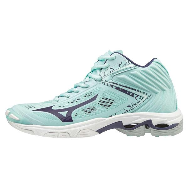 MIZUNO WAVE LIGHTNING MID WOS - VERDE ACQUA - V1GC190528
