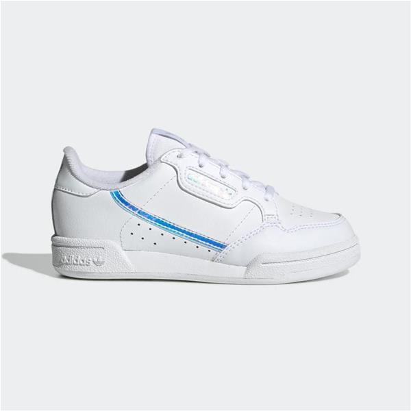 ADIDAS CONTINENTAL 80 C - BIANCO/ARGENTO - EE6503