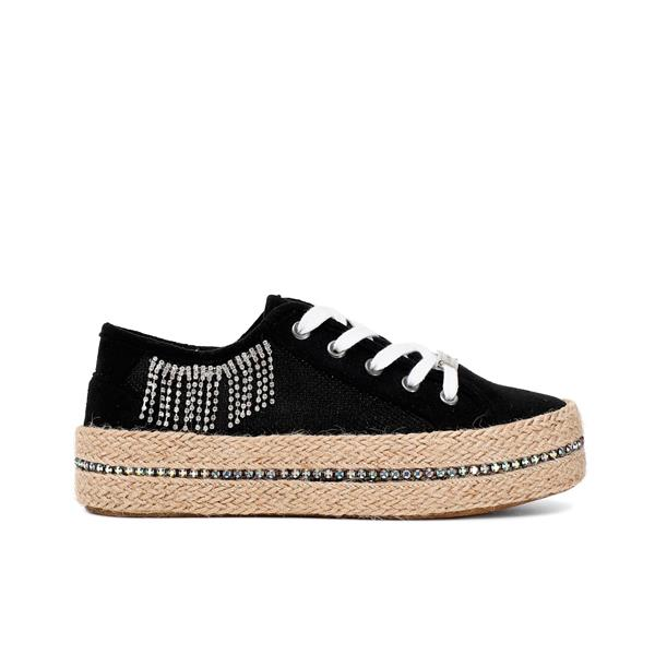 CAFE'NOIR  SNEAKERS RETE LUREX - NERO- GDC934-010