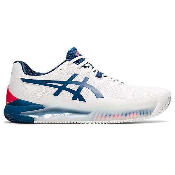 ASICS GEL RESOLUTION 8 CLAY -BIANCO/BLU -1041A076-103