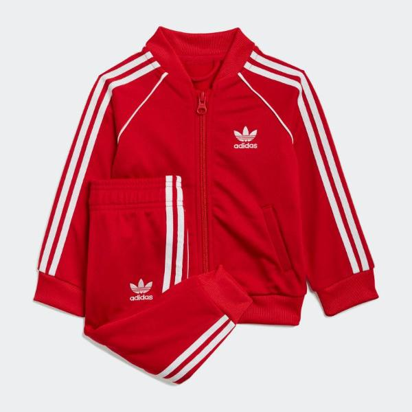 ADIDAS TUTA SST TRACKSUIT-ROSSO/BCO - GN8439