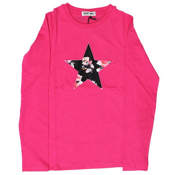 SHOP ART T-SHIRT JERSEY GIRL  - FUXIA - 017579-044