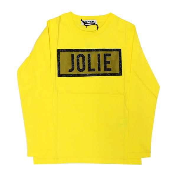 SHOP ART T-SHIRT JERSEY GIRL  - GIALLO/NERO - 017879-020