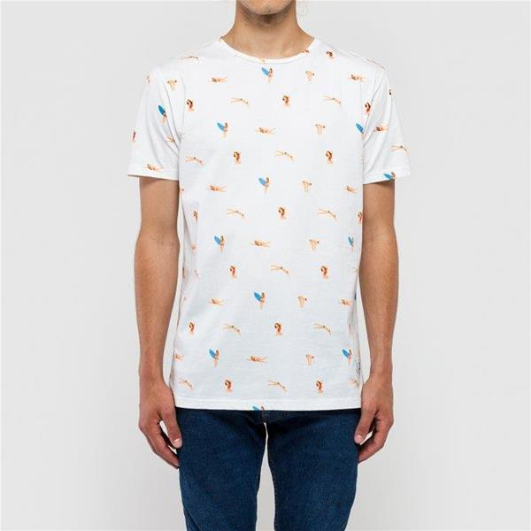 RVLT T/SHIRT STAMPE  PRINTED  - BIANCO - 1128-BCO