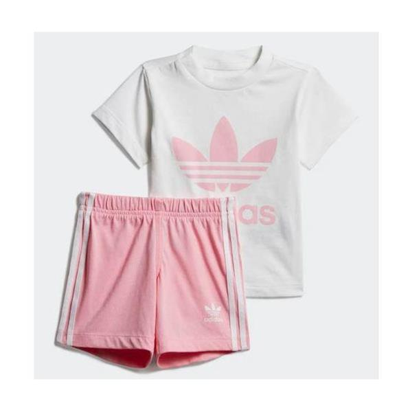 ADIDAS COMPLETO SHORT TEE INFANT GIRL - BIANCO/ROSA - DV2815