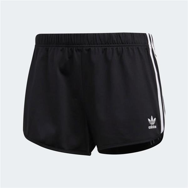 ADIDAS SHORT 3 STRIPES - NERO -  DV2555