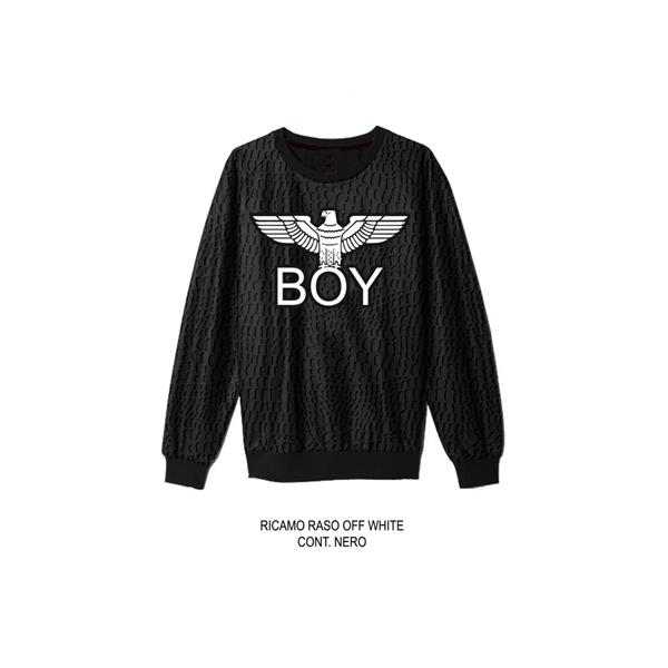 BOY LONDON FELPA GIROCOLLO ST.AVANTI - NERO - BL949-NE