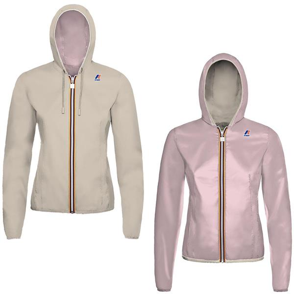 KWAY GIACCA LILY PLUS DOUBLE GIRL- BEIGE/ROSA - K002XN0J-A83